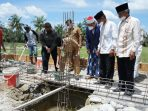 Bupati Asahan Meletakkan Batu Pembangunan Ponpes Bina Ulama Kisaran