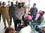 Tinjau Vaksinasi Tahap II di Taput, Kapoldasu Ajak Warga Aktif Pelaksanaan Prokes