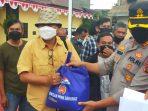 Kapolda Sumut dan Kapolres Samosir Berikan Bansos kepada Wartawan