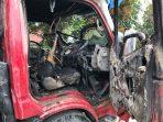 Satu Truk Pasir di Binjai Terbakar Dilempar Bom Molotov