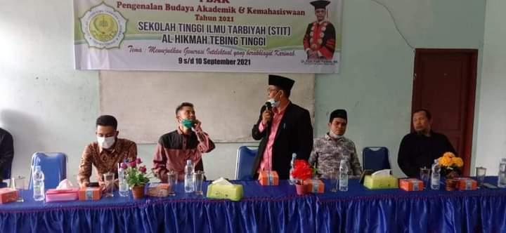 185 Mahasiswa Baru Ikuti PBAK, Ketua STIT Al-Hikmah Tebing Tinggi: Mahasiswa Adalah Bagian dari Keluarga