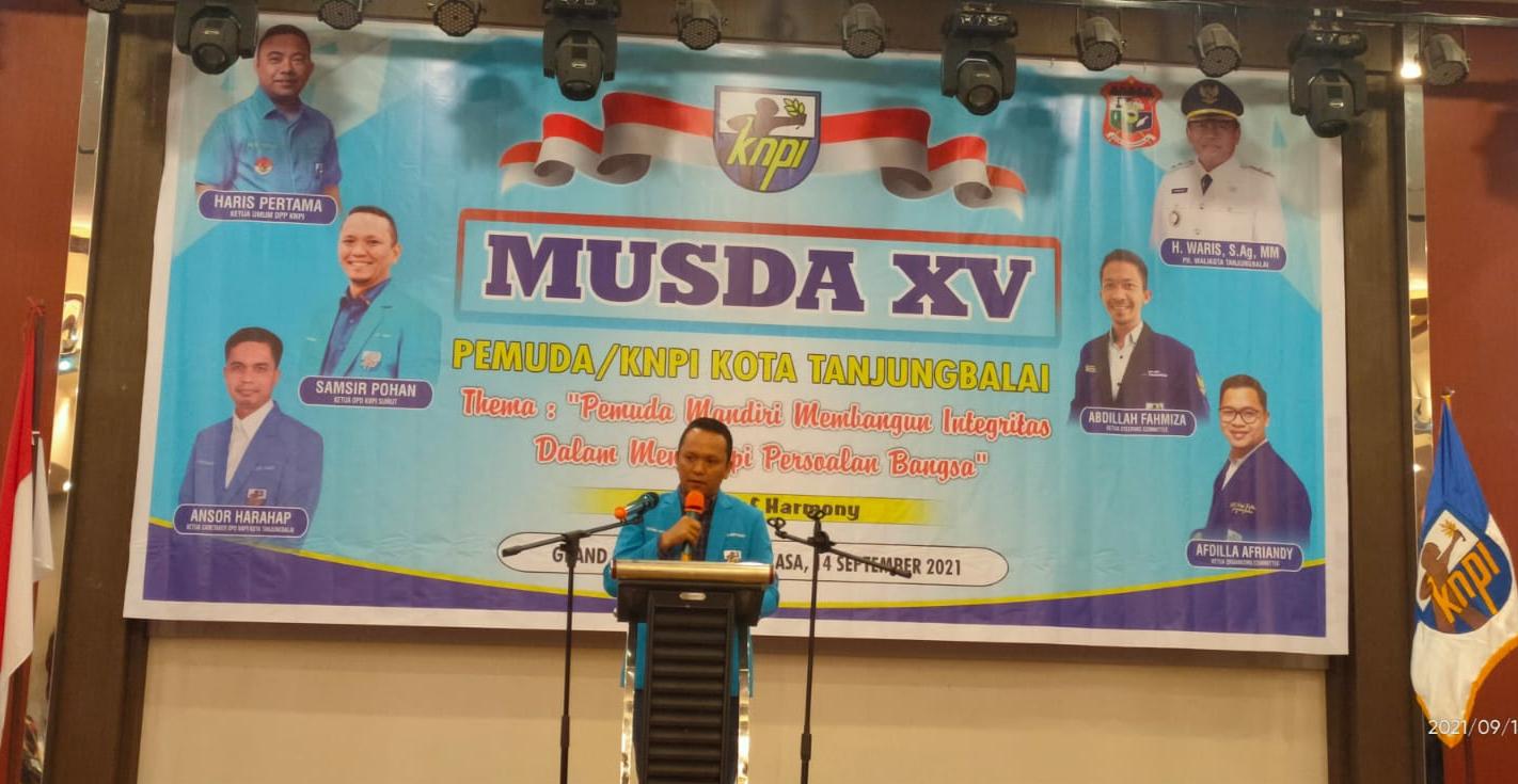 Samsir Pohan Resmi Buka Musda XV KNPI Tanjungbalai, Rolel Harahap: Jangan Ada Pembelokan Sejarah