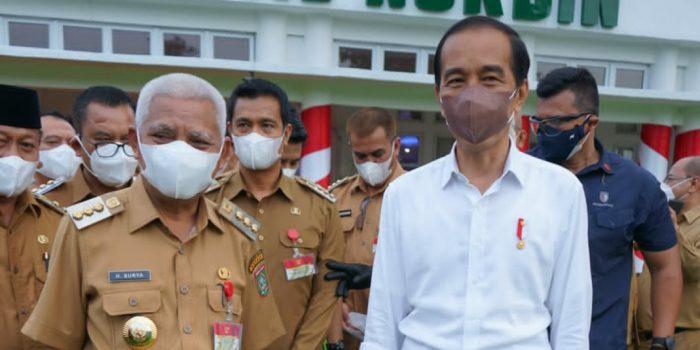 Bupati Asahan Hadiri Kunker Presiden Jokowi di Rumah Dinas Gubsu