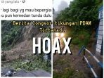 Kapolsek Pancur Batu : Hoak..Info Longsor di PDAM Tirtanadi Sibolangit