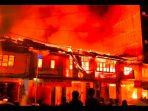 Kebakaran Sejumlah Ruko Lantai 2 di Lubuk Pakam